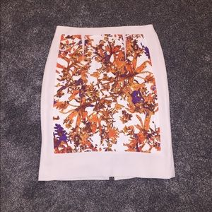 CLUB MONACO Print Pencil Skirt